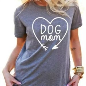 Tops - NEW Grey Dog Mom TShirt